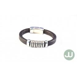 Zwarte raster armband