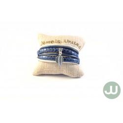 Wikkelarmband Blauw