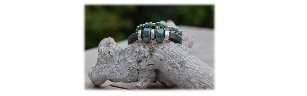 Groene armband Regaliz
